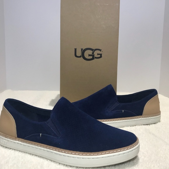 a9a2bf9111f UGG Adley Navy Slip On Sneakers Shoes Perforated NWT